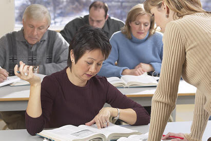 Adults in classroom